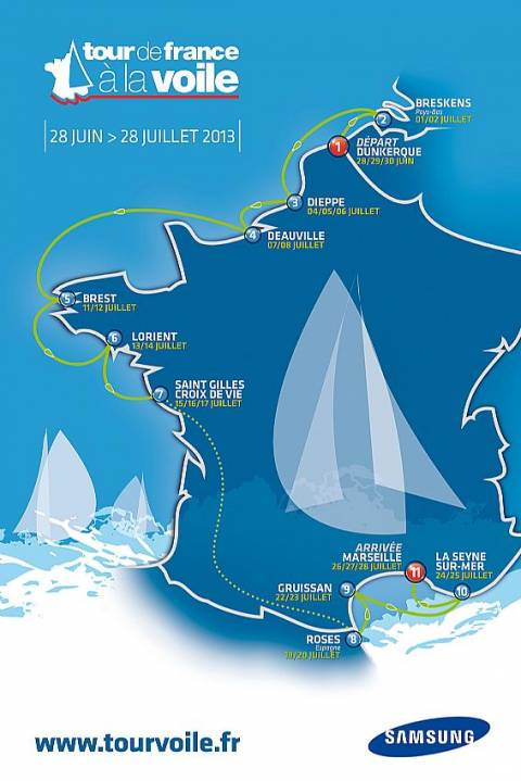 El Tour de Francia a Vela 2013. Recorrido