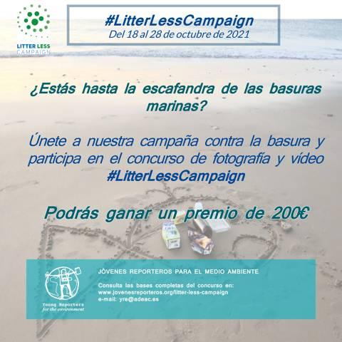 Bandera Azul y Jóvenes Reporteros lanzan #LitterLessCampaign
